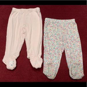 Baby Girl Footed Pants Bundle
